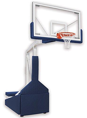 最初チームTempest triumph-st steel-glassポータブルバスケットボールシステムwith公式ガラスbackboard44 ;ロイヤルブルー B01HC0B5JA