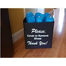 "Disposable Shoe Cover Box for Realtors ""Blue Bootie Box"""
