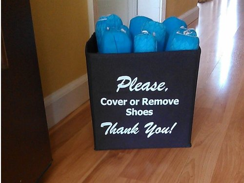 Disposable Shoe Cover Box for Realtors