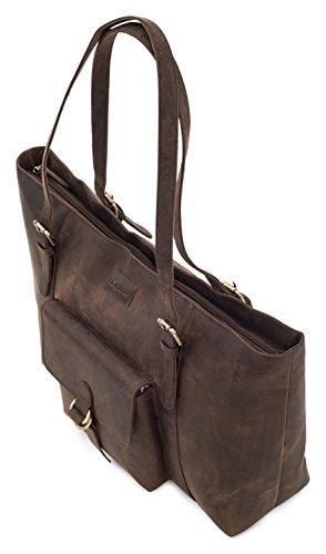 Nutmeg Nutmeg buffalo shopper Verona genuine bag vintage style leather in LEABAGS vEA4fqE