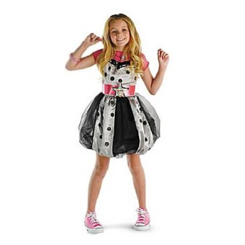 Hannah Montana (Pink with Polka Dots) Dress Child Costume ()