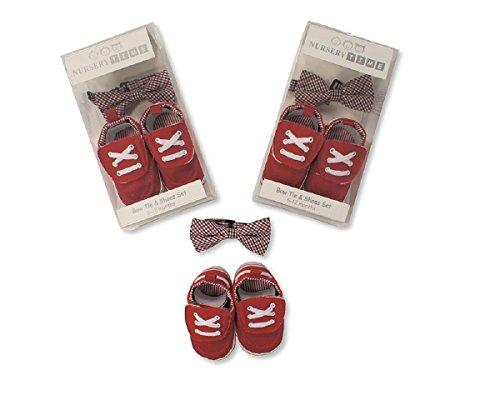 Nursery time bebé niños lazo & Juego De Zapatas regalo ideal para los más pequeños rojo rosso Talla:6-12 meses