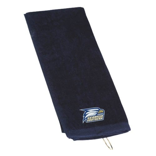 Georgia Southern Navy Golf Towel 'Georgia Southern w/ Eagle Head' Eagles Embroidered Golf Towel