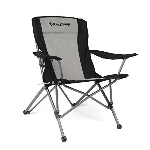 KingCamp Heavy Duty Folding Arm Chair with Comfotable Tilted Back by KingCamp