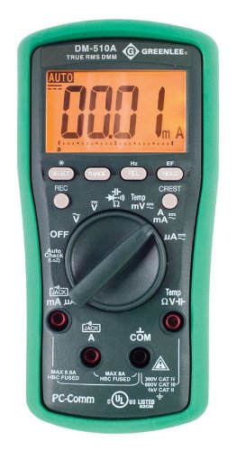 Greenlee DM-510A True RMS Professional Plant Digital Multimeter by Greenlee (Image #2)