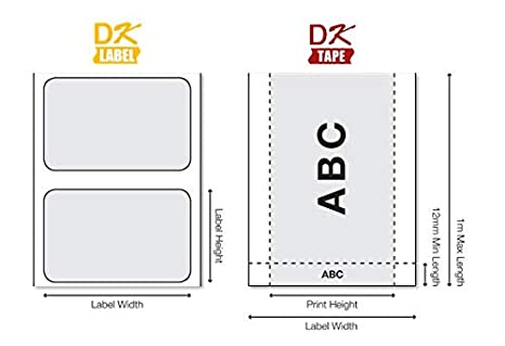 62 mm x 30,48 m Brother DK-22205 Rouleau de Papier Continu Original Noir sur Blanc