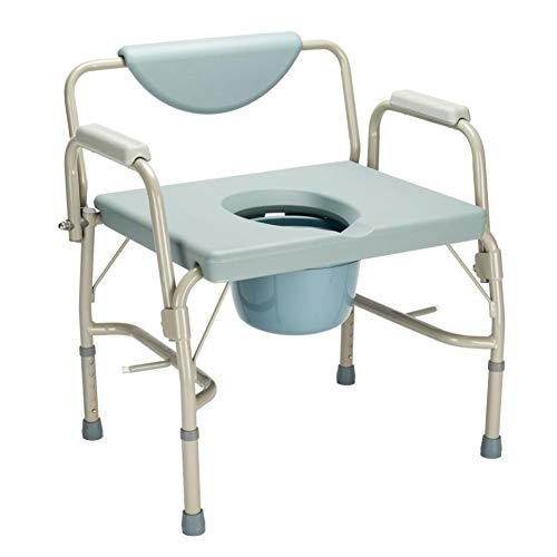 lemontree-ho Medical Bariatric Toilet Commode Chair, Drop-Arm Commode ()