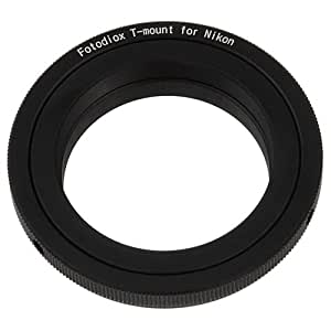 Fotodiox Lens Mount Adapter, T2 / T-Mount Lens to Nikon F-Mount Camera such as D7200, D5000, D3000, D300S & D90 DX