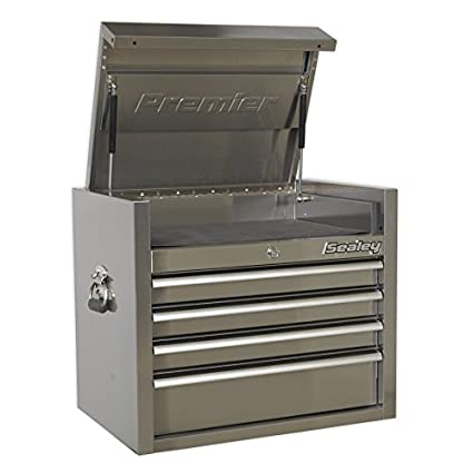 Amazon.com: Sealey PTB66004SS 4 Drawer 675mm Stainless Steel ...