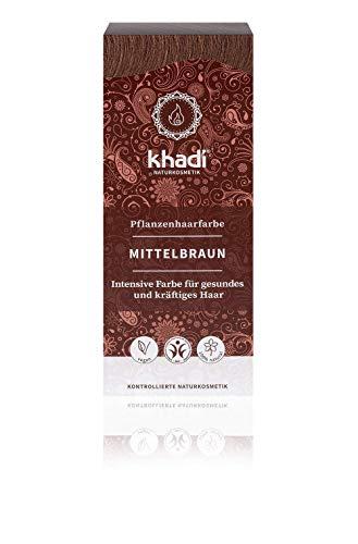 🥇 Khadi Tinte Herbal Color Castaño Medio