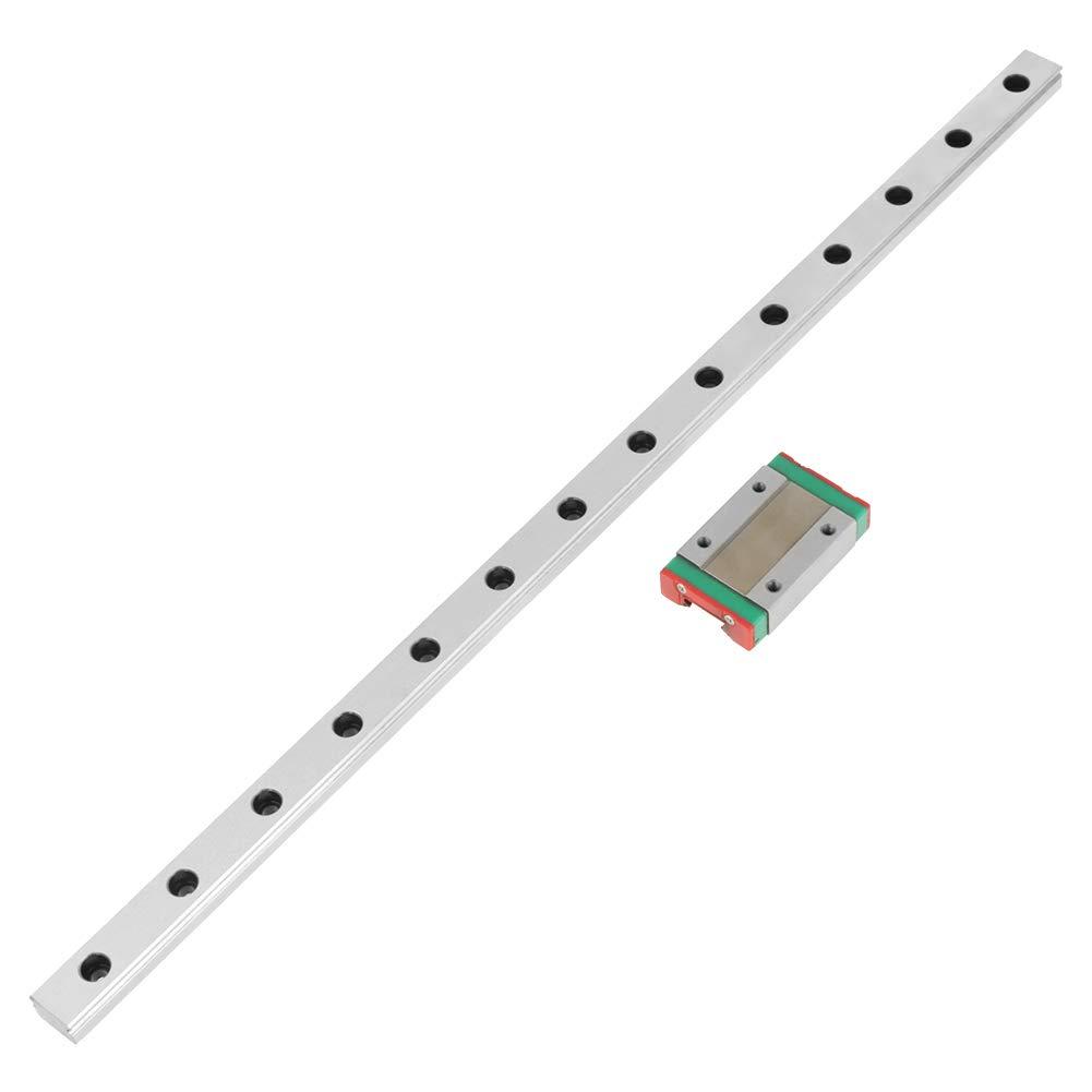 coulisse longueur 350mm Rail de guidage lin/éaire bonne r/ésistance et grande pr/écision largeur 12mm 1pc MGN12H Guide de rail lin/éaire miniature