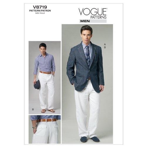 Jacket Pants Sewing Pattern - Vogue Patterns V8719 Men's Jacket and Pants, Size MXX (40-42-44-46)