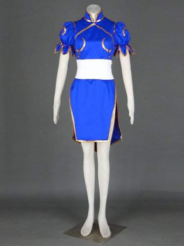 Street Fighter II Cosplay Costume - -Chun-Li 1st Blue Kid Large by Dream2Reality (Image #2)