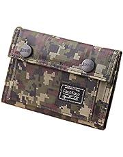 Heren jongens portemonnee portemonnee in diverse Camo Design Retro Wallet Schoolagenetui Portemonnee Card Case Holder, camouflage-motief (Woodland Camo), Eén maat,