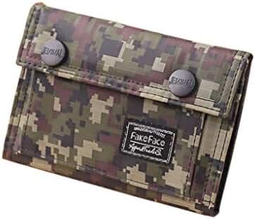 Heavy-Duty Casual Canvas Trifold Digital Camo Commando Wallet Card Holder Organizer