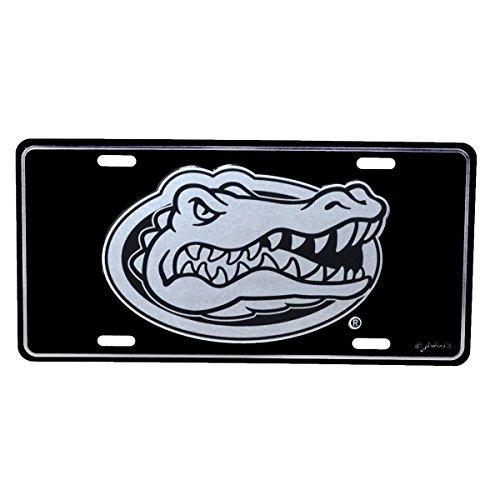 (TG LLC University of Florida Gators Black Mirrored License Plate)