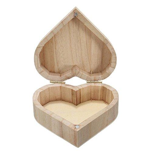 Caja de madera con forma de corazón - 1 pieza de adorable ...