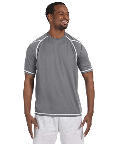 Champion Double Dry T-Shirt with Odor Resistance, stone gray, X-Large ()