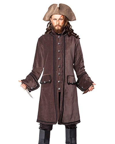 Pirat Mittelalter Renaissance Calico Jack Coat Jacke Kostüm [c1408]