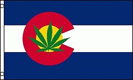 COLORADO State MARIJUANA FLAG, 3'X5' CO dispensary sign