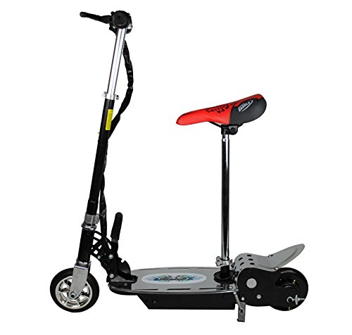 120W Electric Scooter For Kids - Metal Deck Folding With Seat - Black Zipper Scooters SK666770