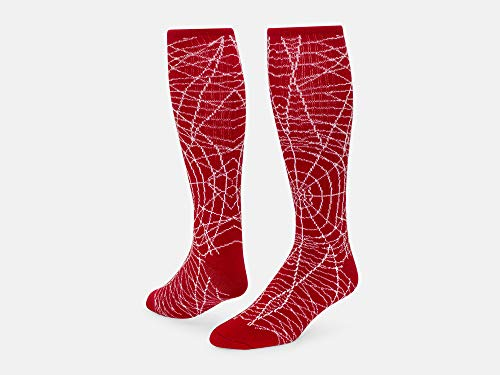 Red Lion Spider Knee High Sock (Red/White - Large)