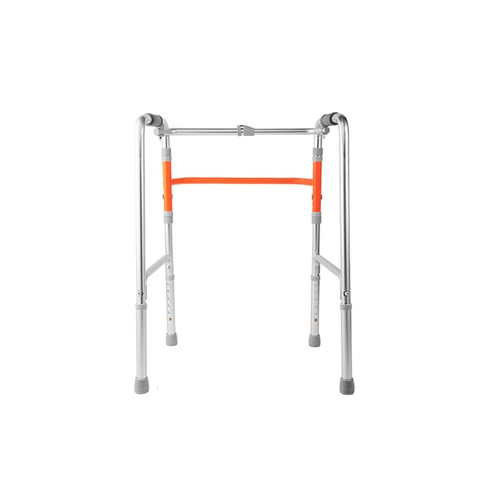 Aluminum Alloy Material is not Easy to deform, net Weight 2.52kg Portable Folding 6-Speed Adjustment for The Elderly Walker, Silver