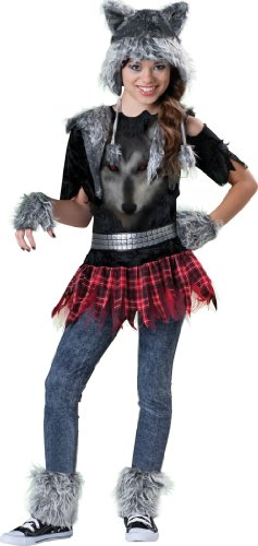 Little Girl Wolf Costume (Incharacter Costumes Tween Wear Wolf Costume, Grey/Black/Red,)