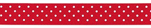 Berisfords Band mit Punkten, 25 mm breit, 20-m-Rolle, Rot