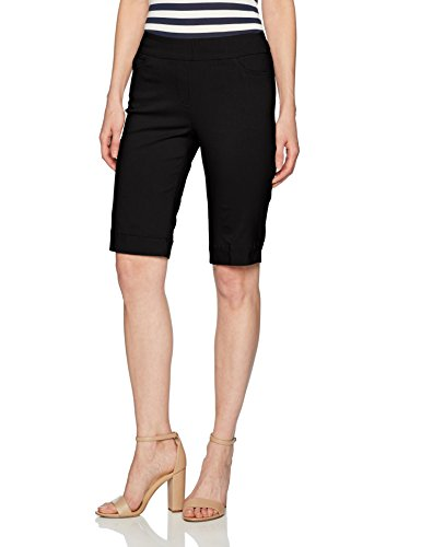 SLIM-SATION Women's Shorts, Black, 12 ()