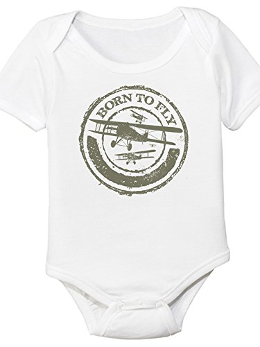 Born To Fly, Aviation Themed Baby Onesie (6 Month) -