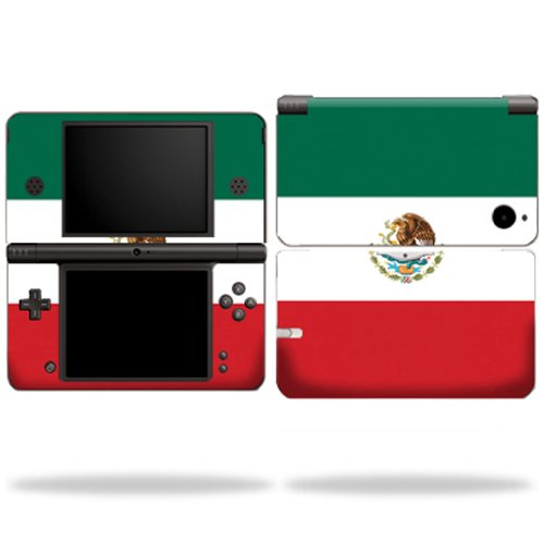 MightySkins Protective Vinyl Skin Decal Cover for Nintendo DSi XL wrap sticker skins Mexican Flag