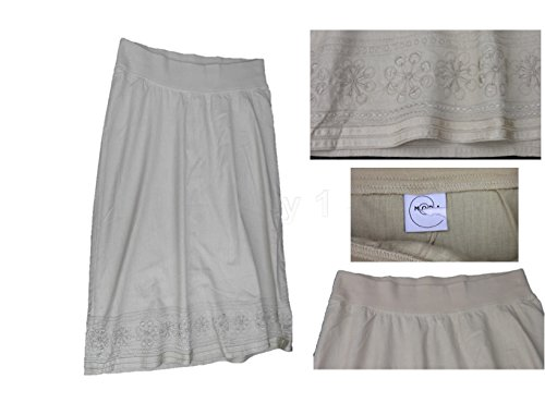 Beige Cotton / Linen Maternity Skirt Moda Size 8, 10, 12, 14, 16, 18