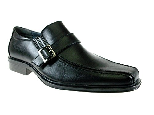Majestic Mens 79561 Light Weight Classic Buckle Dress Shoes Black 6lj2KcYI