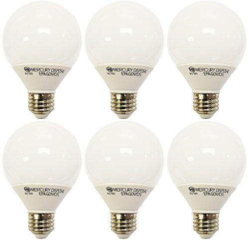 (6 Pack GE Energy Smart CFL 11 Watt Daylight Decorative G25 Light Bulbs (40W Incandescent Replacement) 9.1 Year Life (6 Pack))