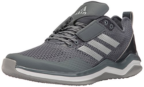 (adidas Men's Speed Trainer 3.0 Shoes, Onix/Metallic Silver/White, (10 Medium US))