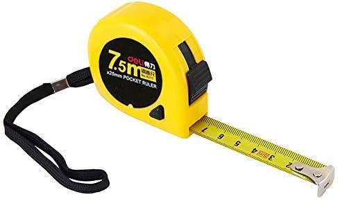 LIJIAN 長さ:7.5m、デリ格納式定規測定テープポータブルプル定規ミニスカート巻尺