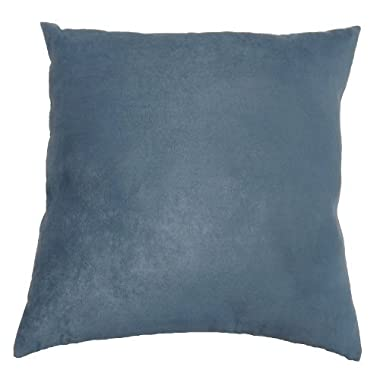 DreamHome - Solid Faux Suede Decorative Pillow Cover/Sham, 18  X 18  - Cloud