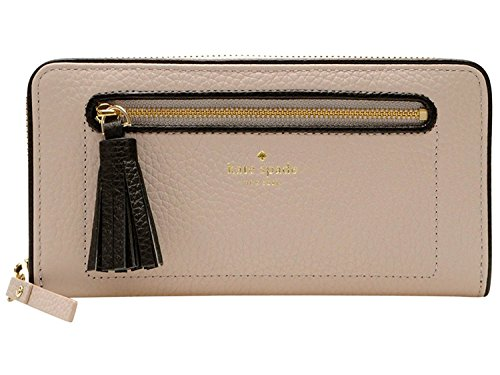 Kate Spade New York Chester Street Neda Zip Around Wallet WLRU2654 (Almond/Black) by Kate Spade New York