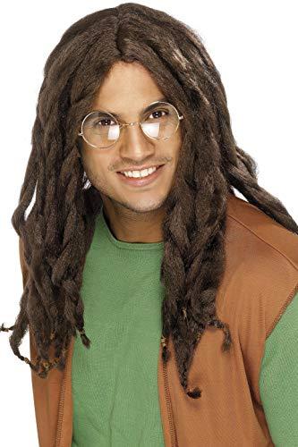 Smiffys Men's Brown Dreadlock Wig, One Size, -