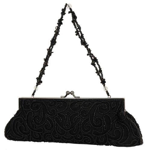 Carlo Fellini – Rocio Evening Bag (61 9633) (Black), Bags Central