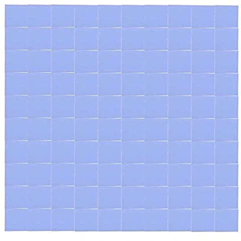 SODIAL(R) 100x 10x10x1mm silicone thermal pad for conductive heat sink Insulation Pate, Blue (Silicon Thermal Pad)