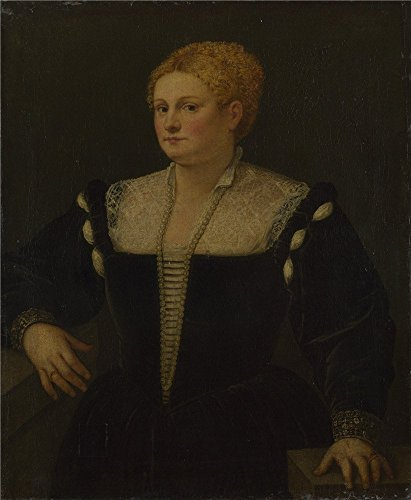'Follower Of Titian Portrait Of A Woman (perhaps Pellegrina Morosini Capello) ' Oil Painting, 20 X 24 Inch / 51 X 62 Cm ,printed On Polyster Canvas ,this Reproductions Art Decorative Prints On Canvas Is Perfectly Suitalbe For Dining Room Gallery Art And Home Gallery Art And Gifts - State Fair Bingo Shutter Cards