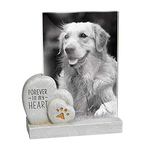 (Grasslands Road Forever in My Heart Slate Grey 7 x 5 Resin Stone Wall and Tabletop Frame)