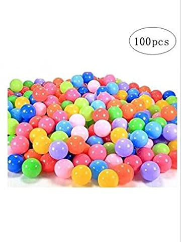 Accguan 100pcs Colorful Ball Fun Ball Soft Plastic Ocean Ball Baby Kid Toy Swim Pit Toy (Pit For Kids)