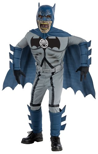 Blackest Night Deluxe Zombie Batman Costume and Mask - (Batman Zombie)