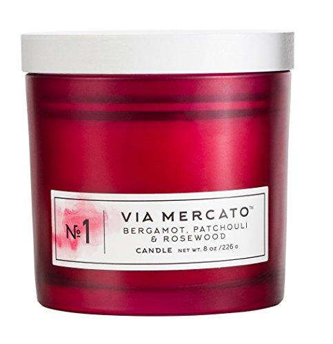 Via Mercato Single Wick 8oz Fragrant Candle No.1 - Bergamot, Patchouli, Rosewood