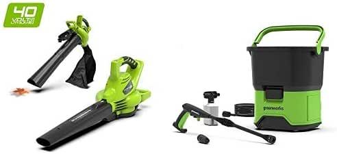 Greenworks Soplador/Aspirador/Triturador de hojas inalámbrico de ...