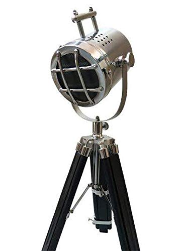 - The Brighter Side Chrome Finish Mini Spot Tripod Lamp - Good Quality Nautical Lamp For Home And Office