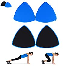 Gliding Discs - 2 Fitness Core Sliders for Strength and Stability - Abdominal and Glutes Exercise Slides for Home and Gym Work Out - Dual Sided to Work on Carpet or Hard Floors by Panta Santa